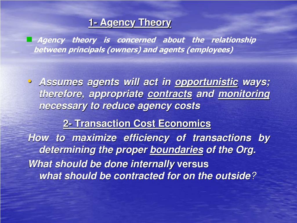 1- Agency Theory