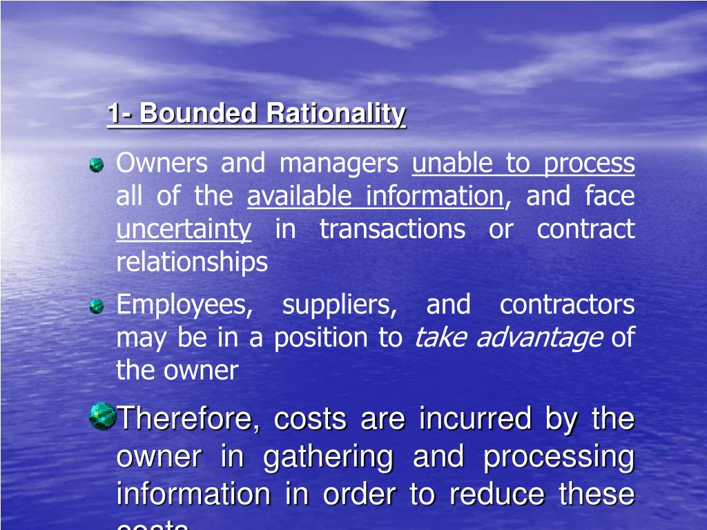 1- Bounded Rationality