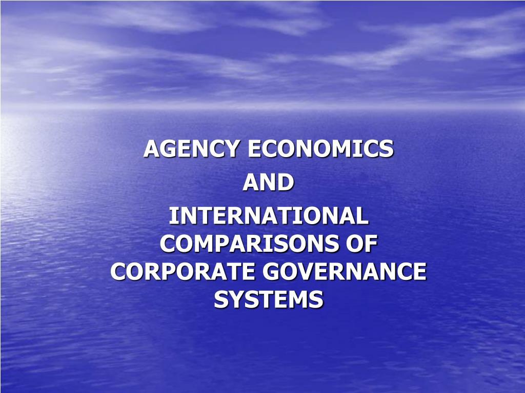 AGENCY ECONOMICS
