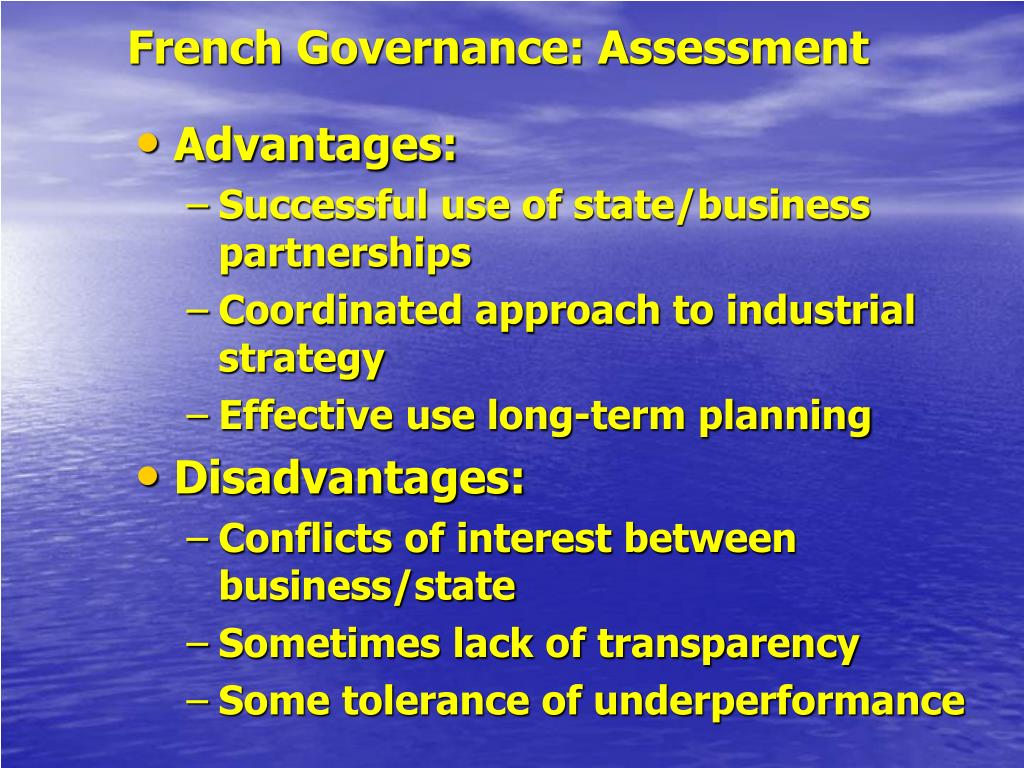 French Governance: Assessment