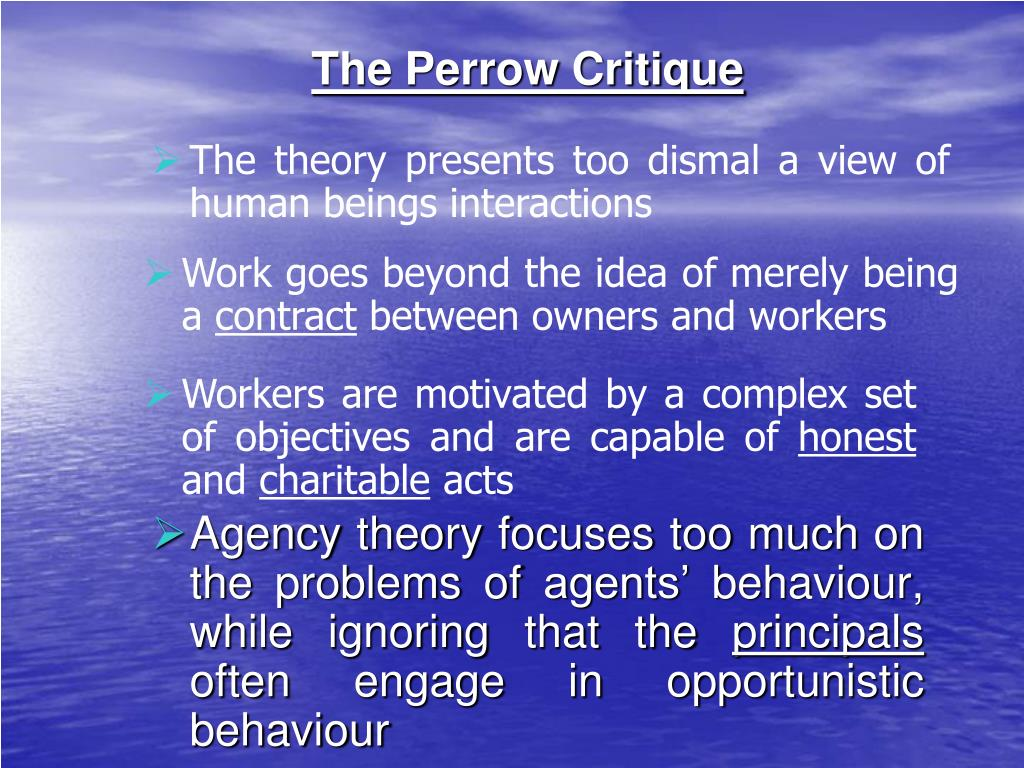 The Perrow Critique