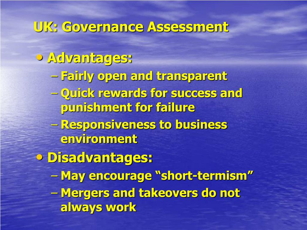 UK: Governance Assessment