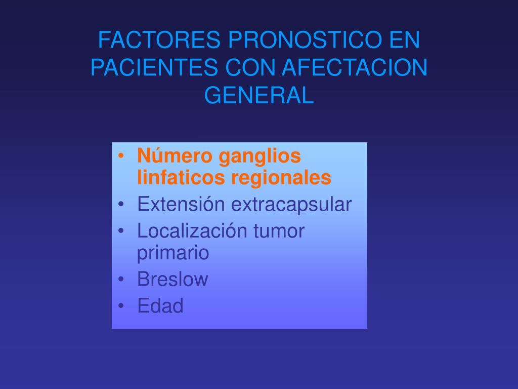 FACTORES PRONOSTICO EN PACIENTES CON AFECTACION GENERAL