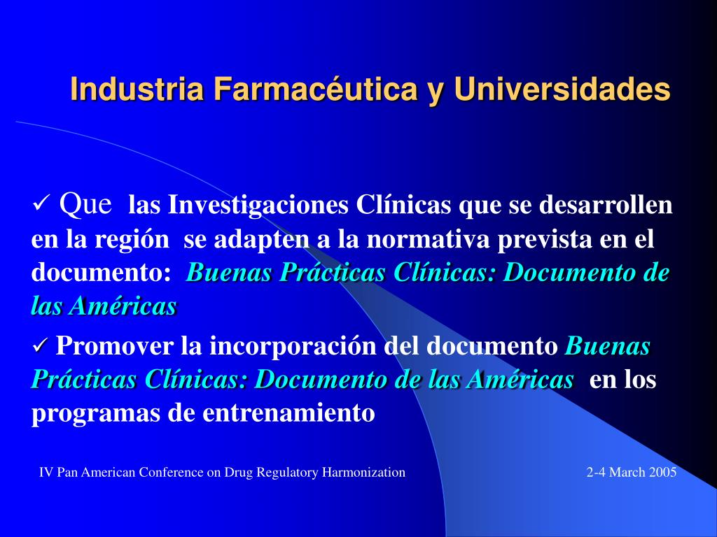 Industria Farmacéutica y Universidades