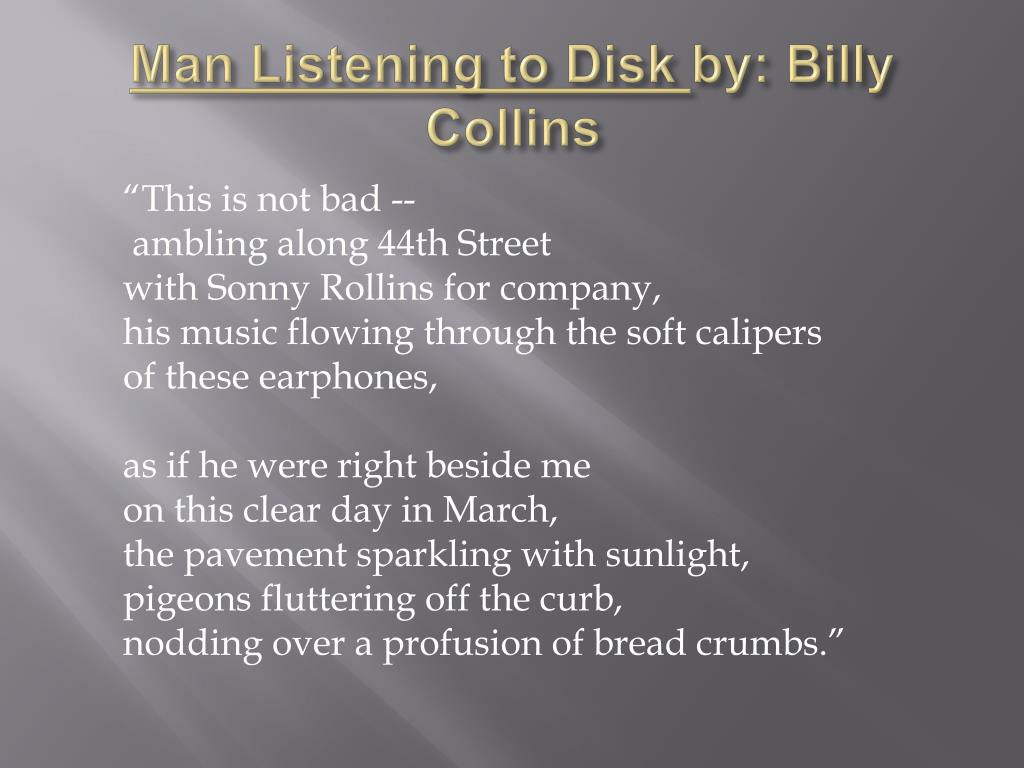 Man Listening to Disk