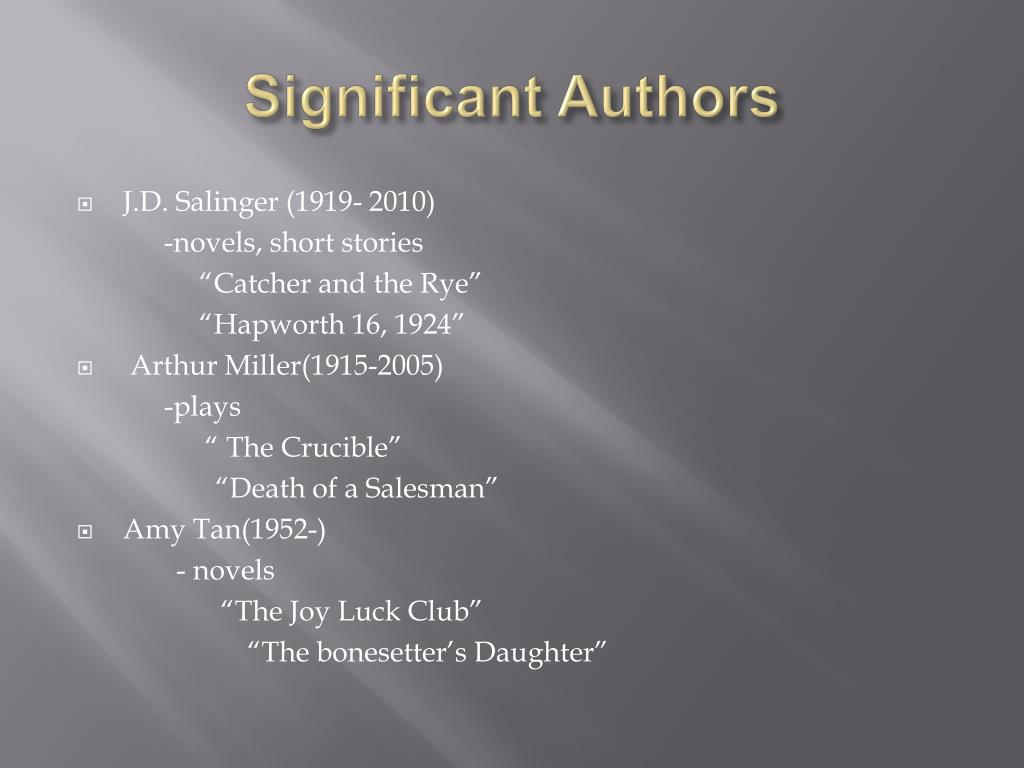 Significant Authors