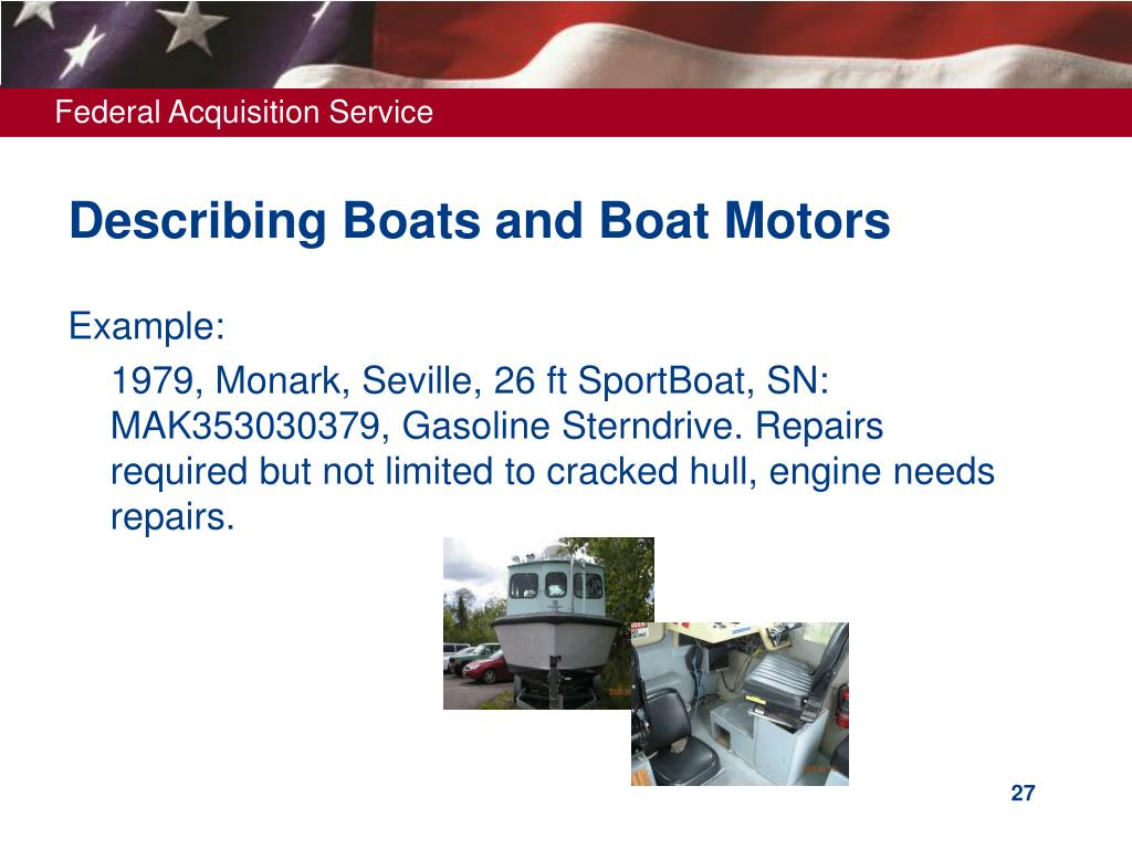 Describing Boats and Boat Motors