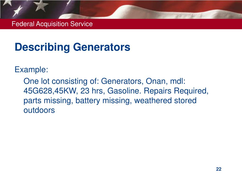 Describing Generators