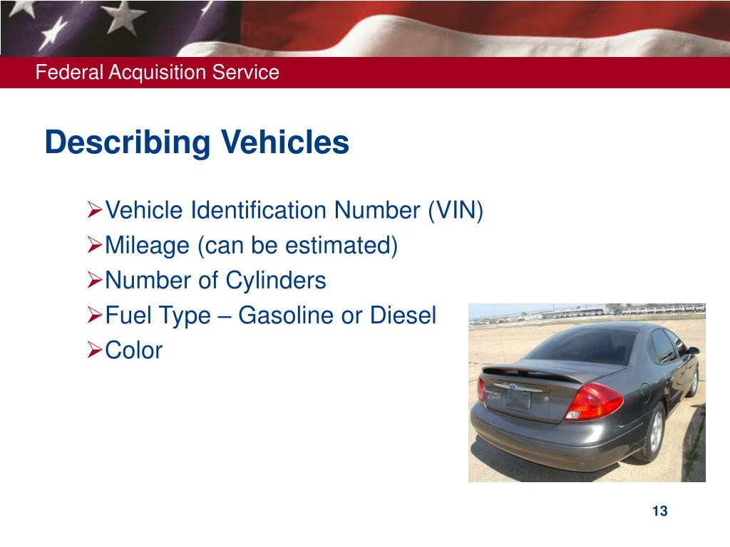 Describing Vehicles