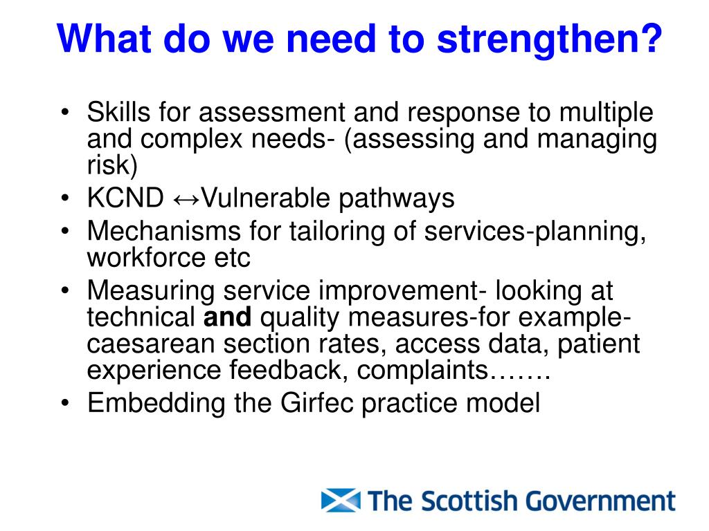 What do we need to strengthen?