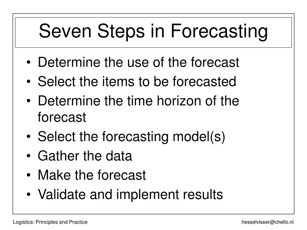 Determine the use of the forecast