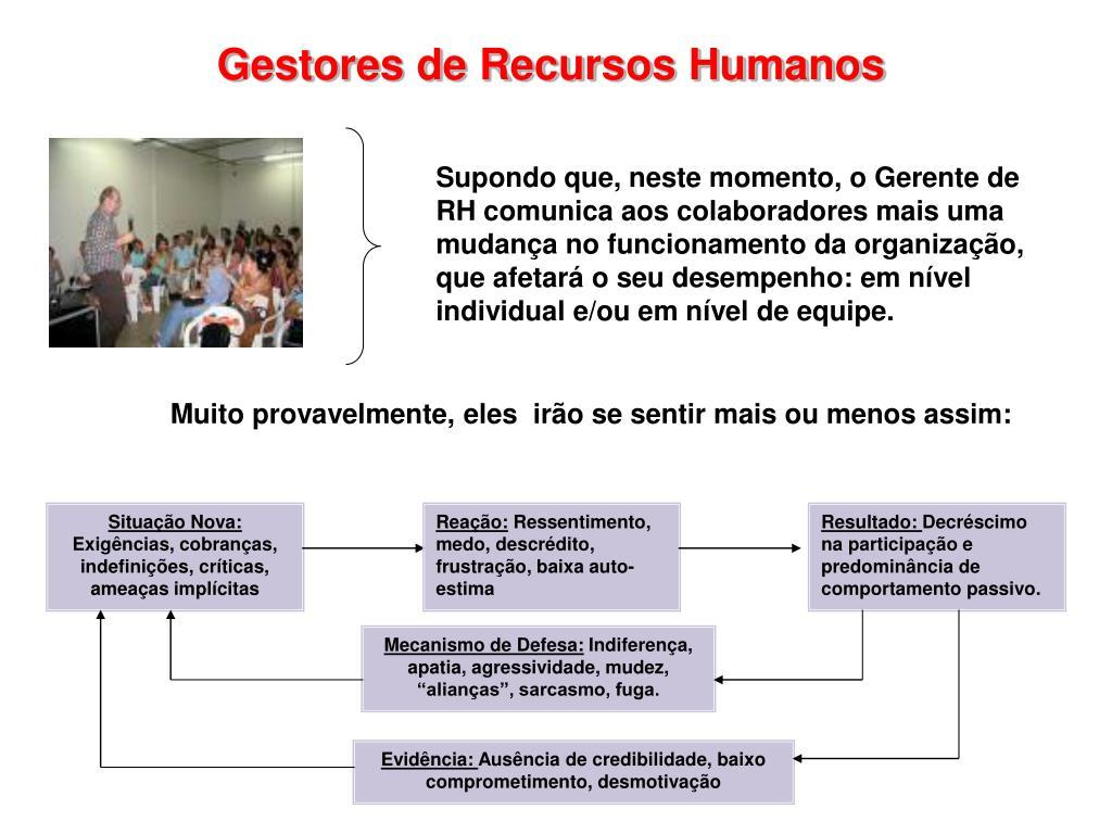 Gestores de Recursos Humanos