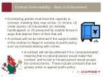 contract enforceability bars to enforcement