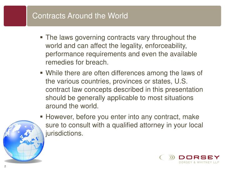 Contracts around the world l.jpg