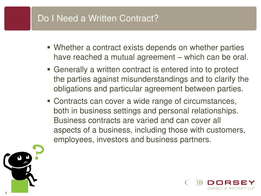 Do I Need a Written Contract?