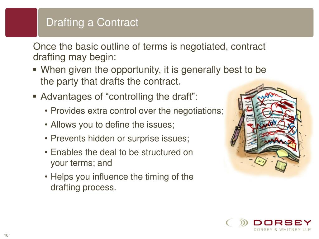 Drafting a Contract
