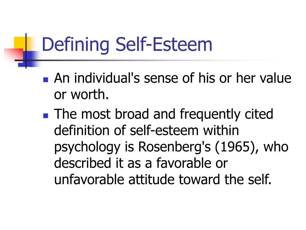 define self esteem including contingencies of self worth