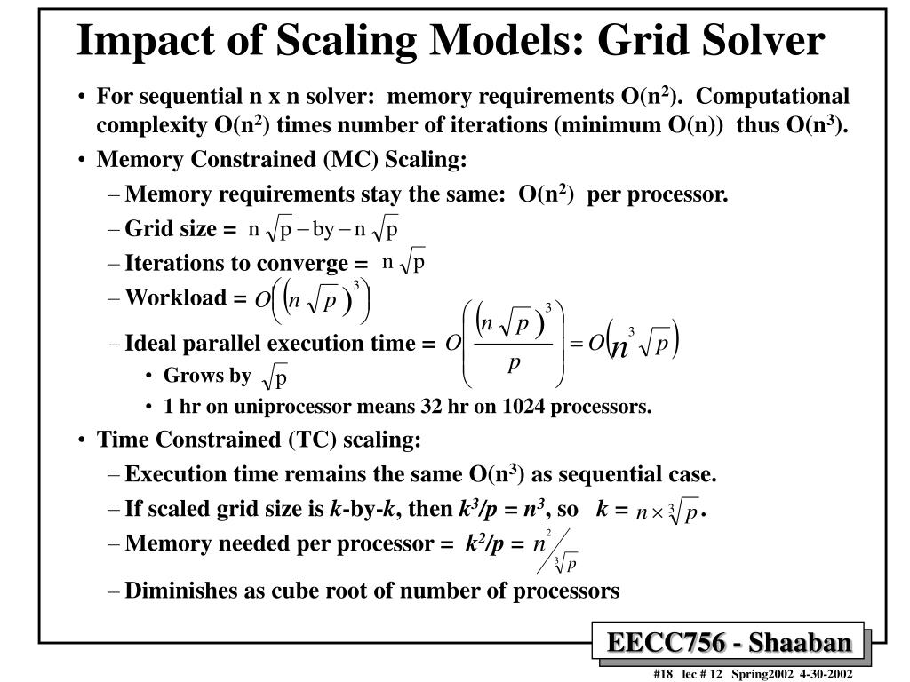Impact of Scaling Models: Grid Solver