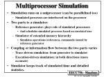 multiprocessor simulation