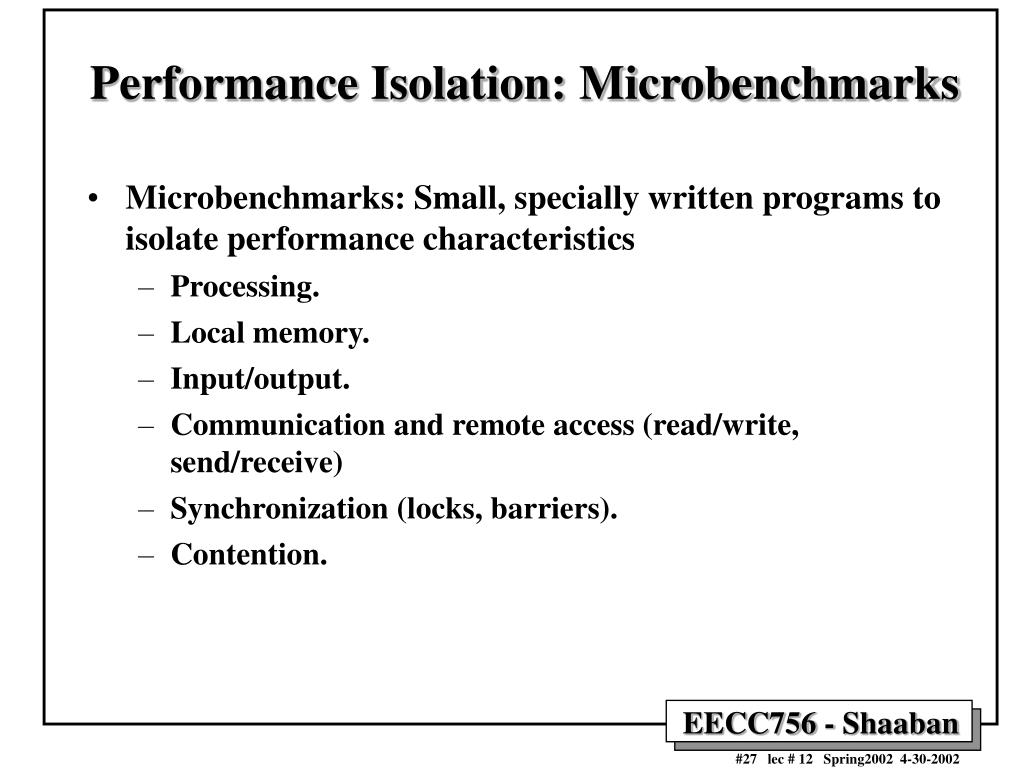 Performance Isolation: Microbenchmarks
