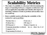 scalability metrics
