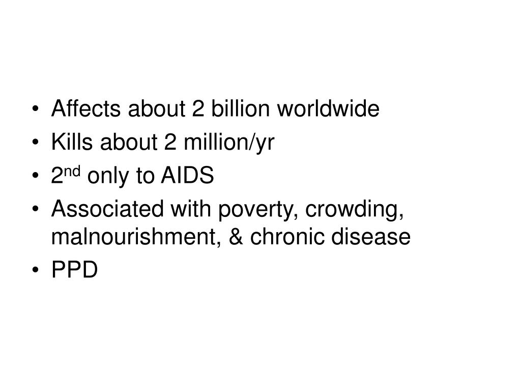 Affects about 2 billion worldwide