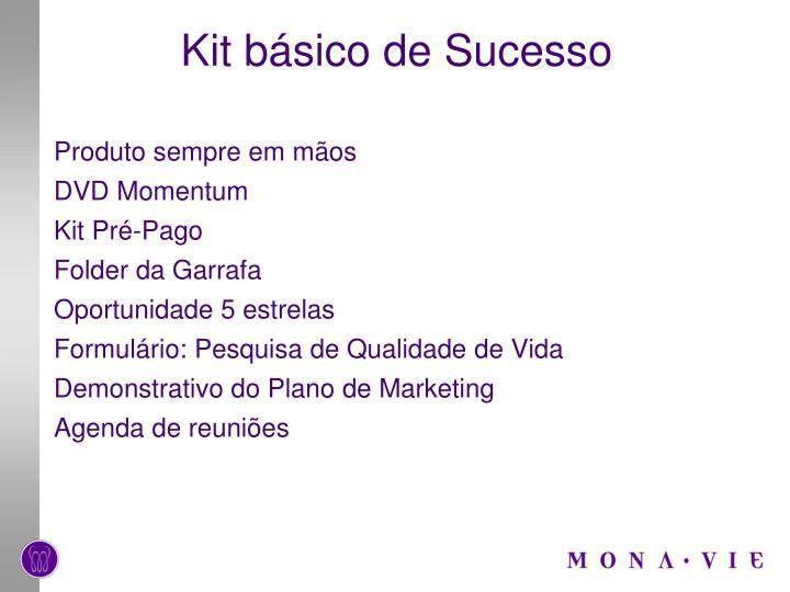 Kit básico de Sucesso