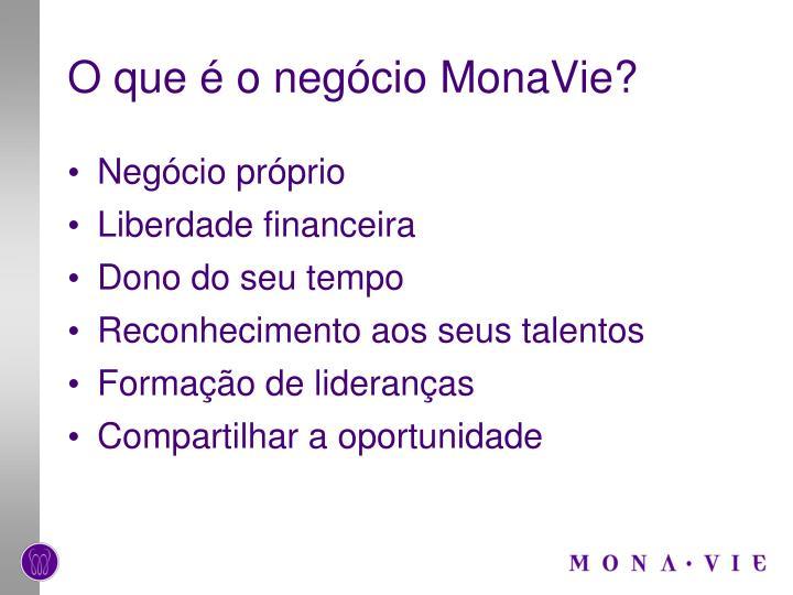 O que é o negócio MonaVie?