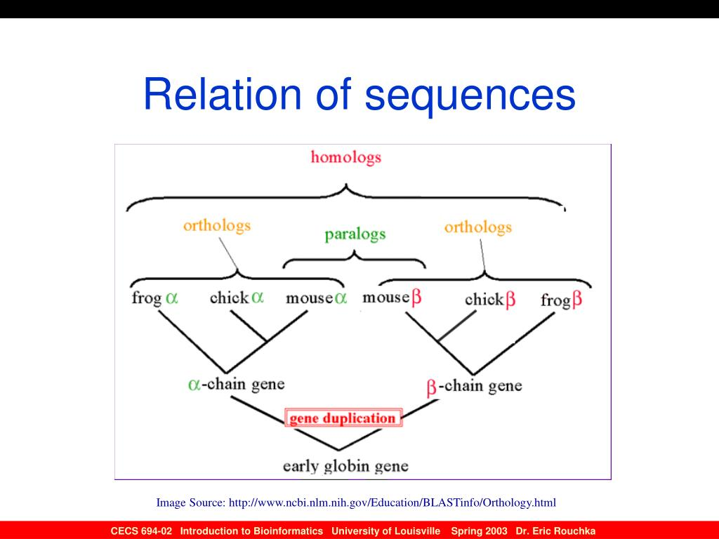 Relation of sequences