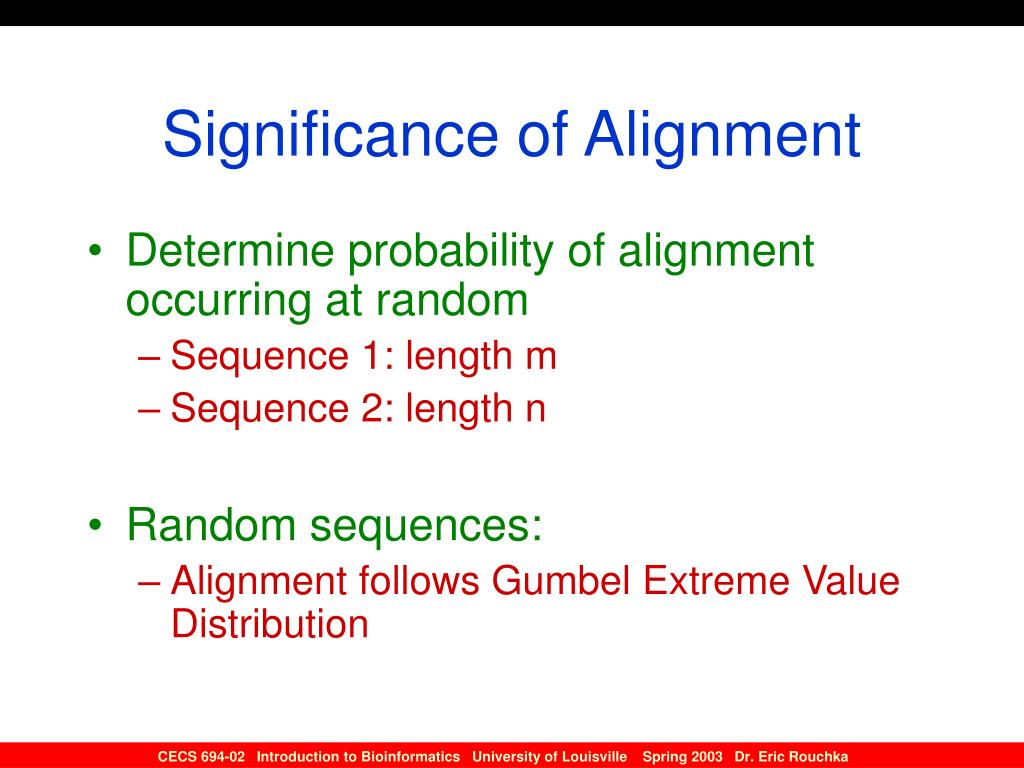 Significance of Alignment