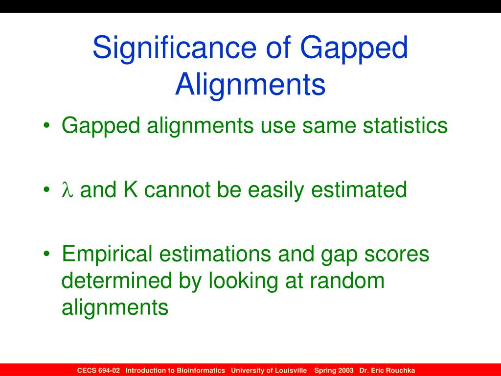 Significance of Gapped Alignments
