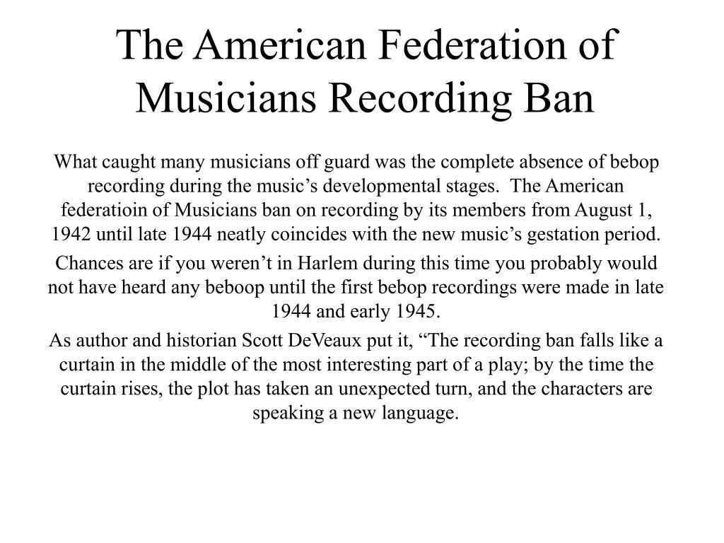 American Federation Of Musicians Of The United States And ...