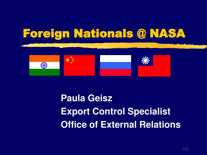 Foreign Nationals @ NASA