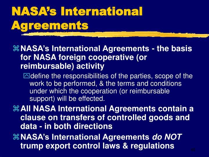 NASA's International Agreements