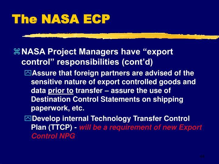 The NASA ECP
