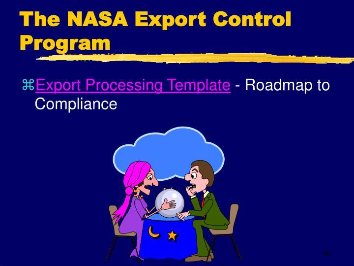 The NASA Export Control Program