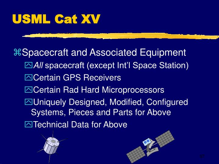 USML Cat XV