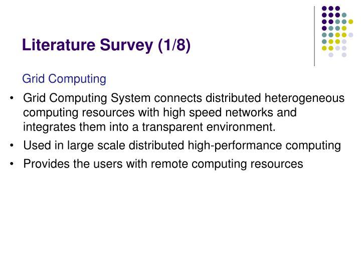 Literature Survey (1/8)