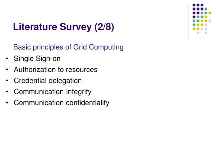 Literature Survey (2/8)