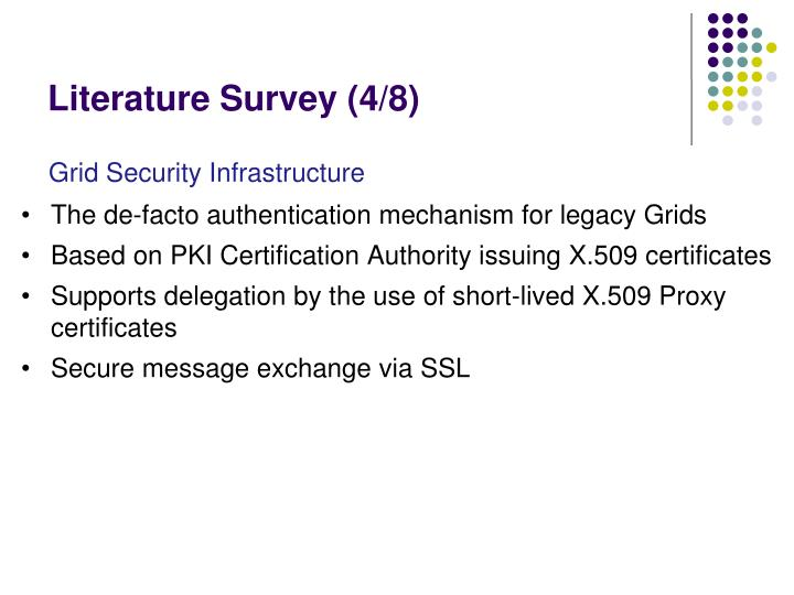 Literature Survey (4/8)
