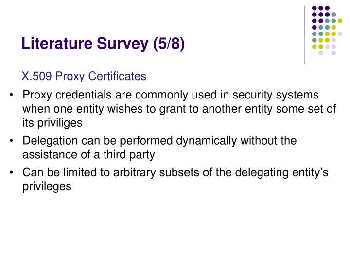 Literature Survey (5/8)