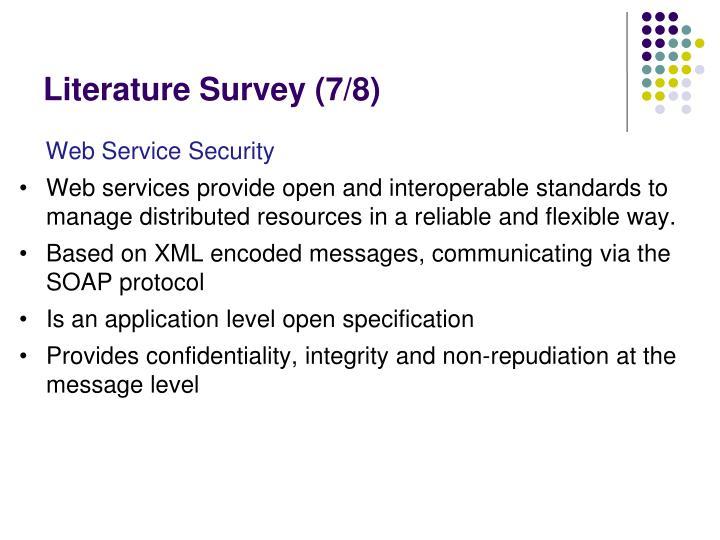 Literature Survey (7/8)