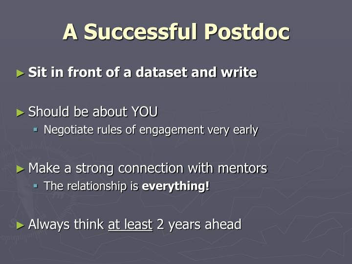 A Successful Postdoc