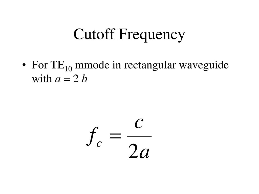 Cutoff Frequency