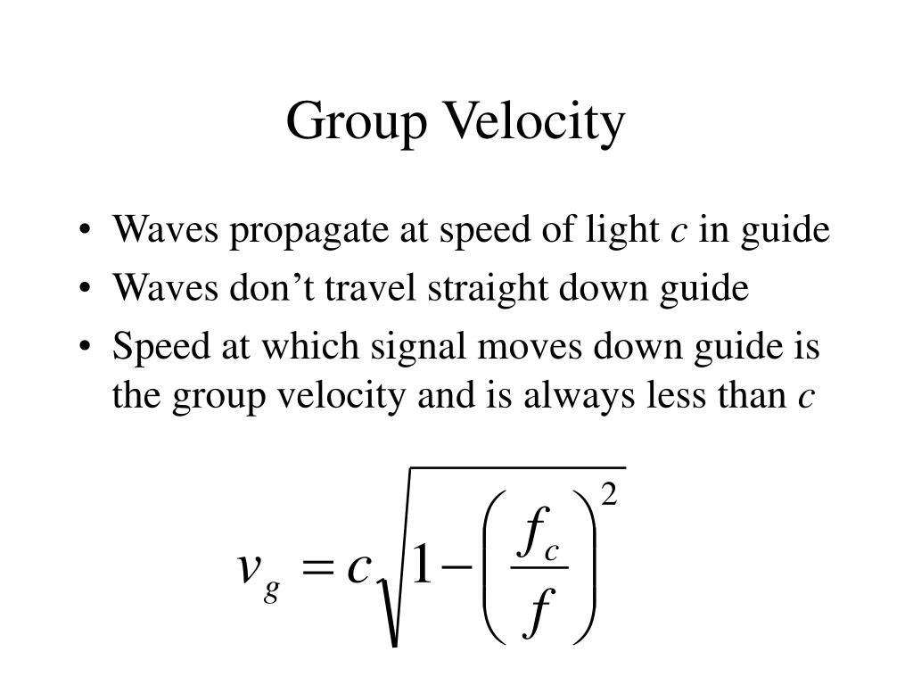 Group Velocity