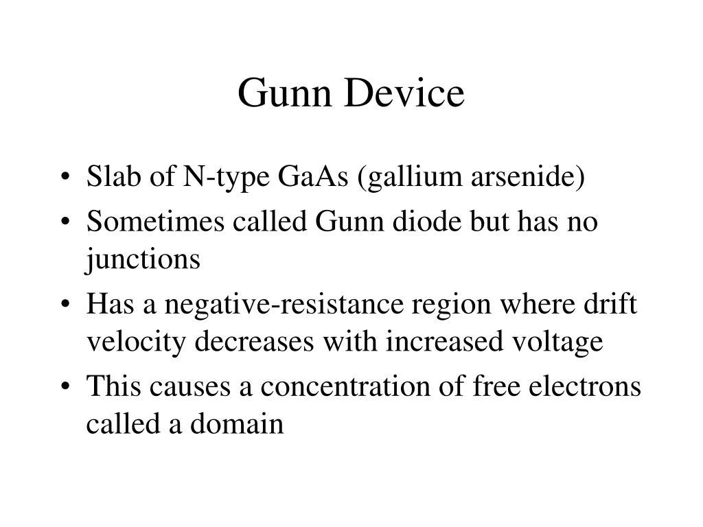Gunn Device