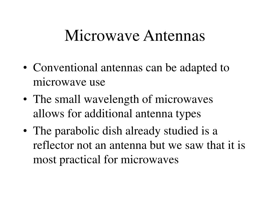 Microwave Antennas