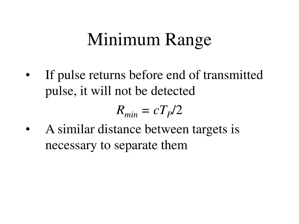 Minimum Range