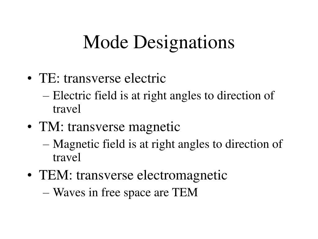 Mode Designations