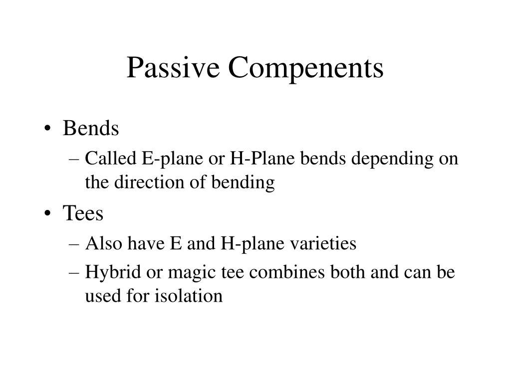 Passive Compenents
